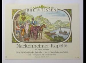 Weinetikett, Rheinhessen, Nackenheimer Kapelle, Steinheim am Main ♥