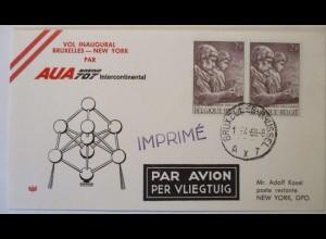 Flugpost, Luftpost, Belgien, AUA 1969