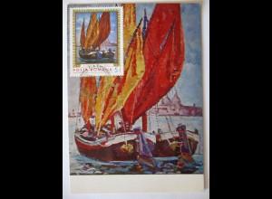 Rumänien Maximumkarte Gemälde Kunst N.Darasku 1971