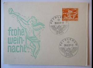 Weihnachten Schweiz, Sonderpoststelle Bethlehem 1959
