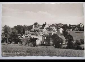 Hohenberg Eger, Ortsansicht, Fotokarte ca. 50er Jahre
