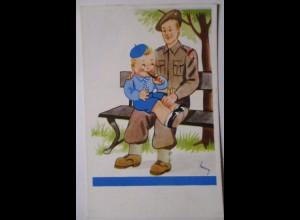 Großbritannien, Kinder, Soldat, sign. Henry