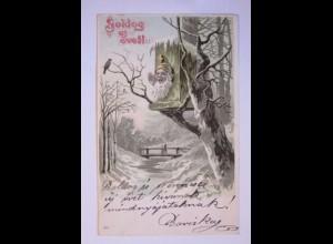 Neujahr, Zwerg, Vogelhaus, 1903 ♥ (39788)