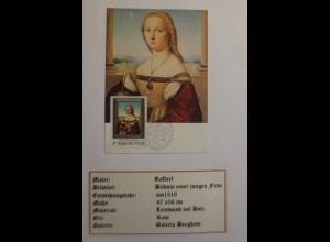 Ungarn, Maximumkarte, Raffael, Bildnis einer jungen Frau, 1983 ♥ (4080)