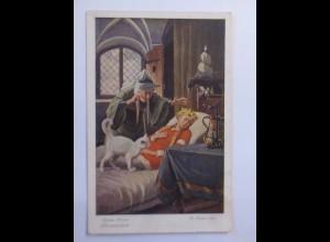 """""""Märchen, Brüder Grimm, Dornröschen"""" 1910, O. Kubel ♥"""