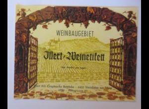 Weinetikett, Illert Weinedikett, Steinheim am Main, 1960 er ♥
