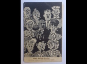 Karneval, Hans Marow, Mimiker, Darsteller Simplizissimus-Typen, 1920 ♥ (43581)