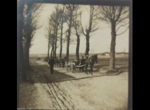 Weißrußland (Belarus), Brest Litowsk, Kutsche, Strasse, Foto ca. 1915 (4394)