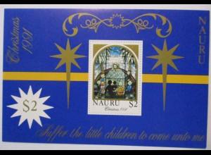 Nauru, Weihnachten Block 8 postfrisch