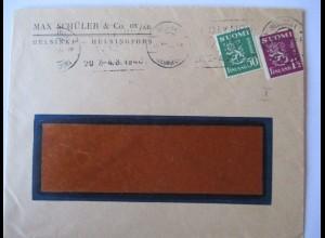 Finnland, Olympia Helsinki 1940, Brief mit Maschinenstempel