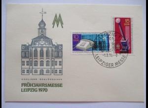 Leipzig, Frühjahrsmesse 1970, Sonderkarte
