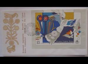 Zypern, Block 14 FDC von 1989 (44851)