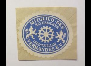 Vignetten, Verschlußmarken, Milglied des Bayerischen Industriellen Verb.♥ (4570)