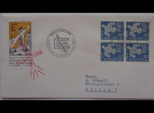 Schweiz, Bellinzona Raketenpost 1961 mit Vignette (4604)