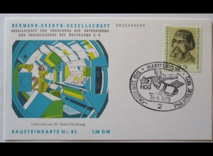 Raumfahrt, Hermann Oberth Gesellschaft, Bausteinkarte 82