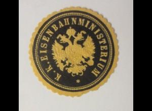 Vignetten, Verschlußmarken, K.K. Eisenbahnministerium ♥ (46249)
