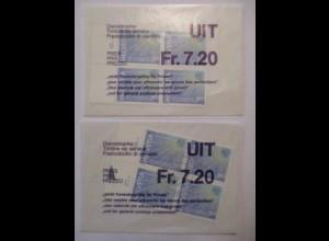 Schweiz, UIT, Nr. 15 Viererblock postfrisch + ESST original PTT