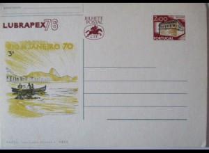 Portugal Ganzsache Lubrapex 1976 (49408)
