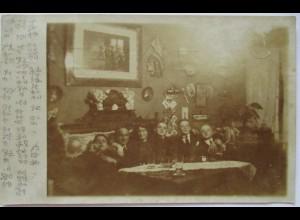 Junger Männer, Frau, Herrenclub, Fotokarte 1913 aus Hamburg