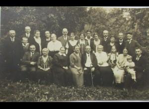 Männer, Frauen, Kinder, Familie, Fotokarte, Photo Berthold Ffm ca.1920