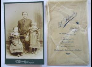 Photo H.Schmeck, Siegen-Betzdorf, Mann mit Kinder, ca. 1890 (49774)