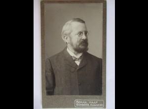 CDV Foto, Mann mit Brille, Monokel, Photo Haaf, Bamberg, ca. 1890