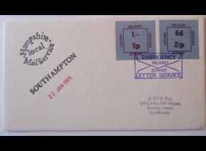Großbritannien, Strike Mail, Streik-Post 1971, Hampshire Mail