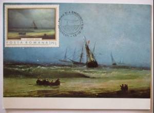 Rumänien Maximumkarte Gemälde Kunst I.K. Aivazovski 1971