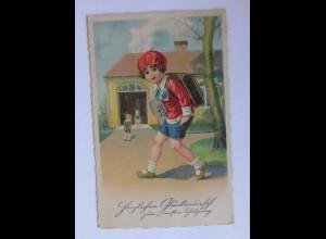 Kinder, Schulanfang, Schule, Schultasche, 1934 ♥ (44135)