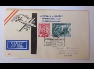 Österreich AUA Erstflug Innsbruck Venedig 1960 ♥ (5220)