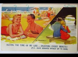Meer, Strand, Baden, Bademode, Männer und Frauen, 1938