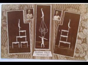 Zirkus Künstler, Brothers Heyn, Händespringer