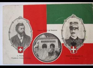 Italien, König Viktor Emanuel III., Imbocco Tunnel, Fahne