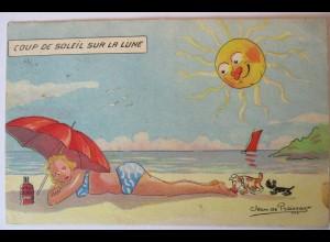 Meer, Strand, Baden, Bademode, Sonne, Hunde, 1948 (35548)