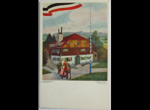 "Künstlerkarte ""Siegesfeier"" Patriotik (561)"