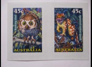 Australien, 1670/1671 Nachtaktive Tiere, Eule, Folienmarken ungebraucht (56306)