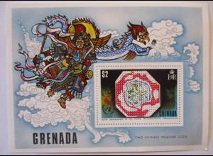 Grenada, Block Chinese Weather Gods 1973 xx