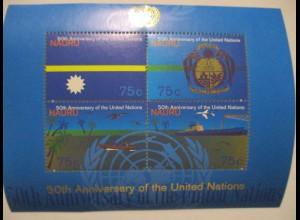 Nauru, 50 Jahre UN Block postfrisch