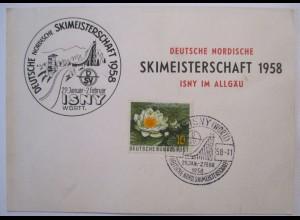 Wintersport Ski, Nordische Skimeisterschaft 1958 Isny im Allgäu