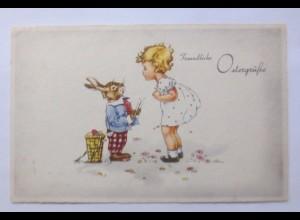 Ostern, Kinder, Personifiziert, Osterhase, Ostereier, 1940 ♥ (59539)