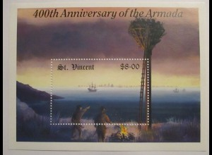 St. Vincent, 400th Anniversary of the Armada, Block xx (60845)