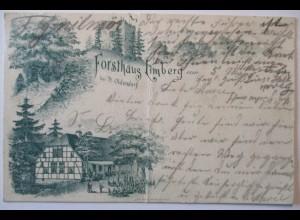 Forsthaus Limberg, Bahnpost Bohmte Holzhausen 1901 (60862)