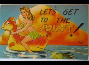 Meer, Strand, Baden, Let´s get to the point, ca. 1940