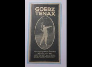 Werbung, Reklame, Kamera, 1914, Goerz Tenax Berlin ♥