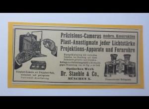 Werbung, Reklame, Kamera, 1914, Präzisions-Cameras, Dr. Staehle & Co ♥