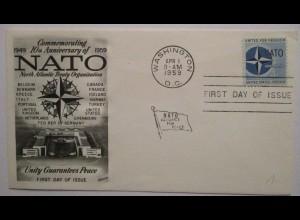 Militär, 10 Jahre NATO USA FDC 1959