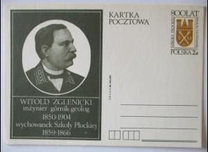 Polen, Witold Zglenicki, Geologe, Ganzsache