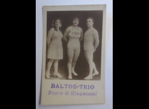 """Zirkus, Baltos-Trio, Force & Elegance"" 1915 ♥"