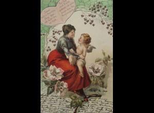 Engel, Amor, Frauen, Spruch, Herz, 1901 ♥ (17162)