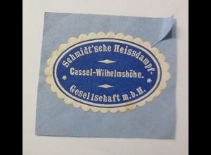 Vignetten, Verschlußmarken, Schmidt´sche Heissdampf Kassel-Wilhelmshöhe ♥(69489)
